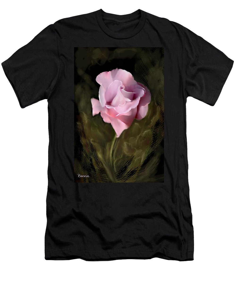 Rose Men's T-Shirt (Athletic Fit) featuring the photograph Tranquil Rose by Bonnie Willis