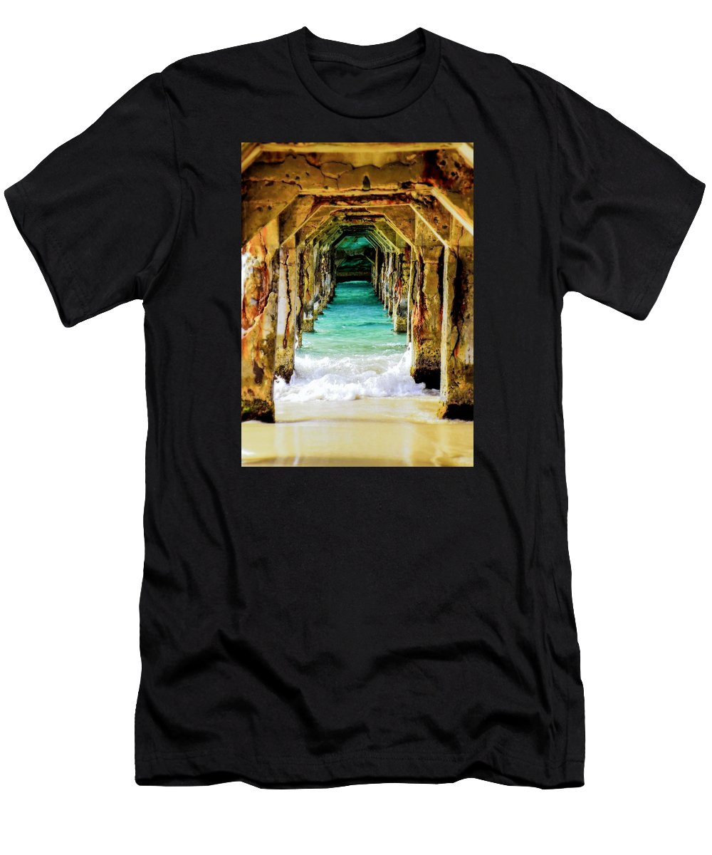 Waterscapes Men's T-Shirt (Athletic Fit) featuring the photograph Tranquility Below by Karen Wiles
