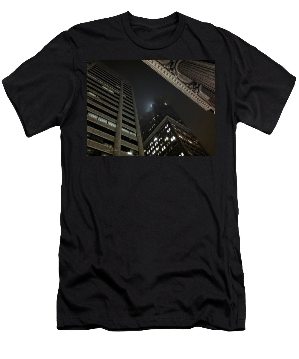 San Francisco Men's T-Shirt (Athletic Fit) featuring the photograph Transamerica Fog by Donna Blackhall