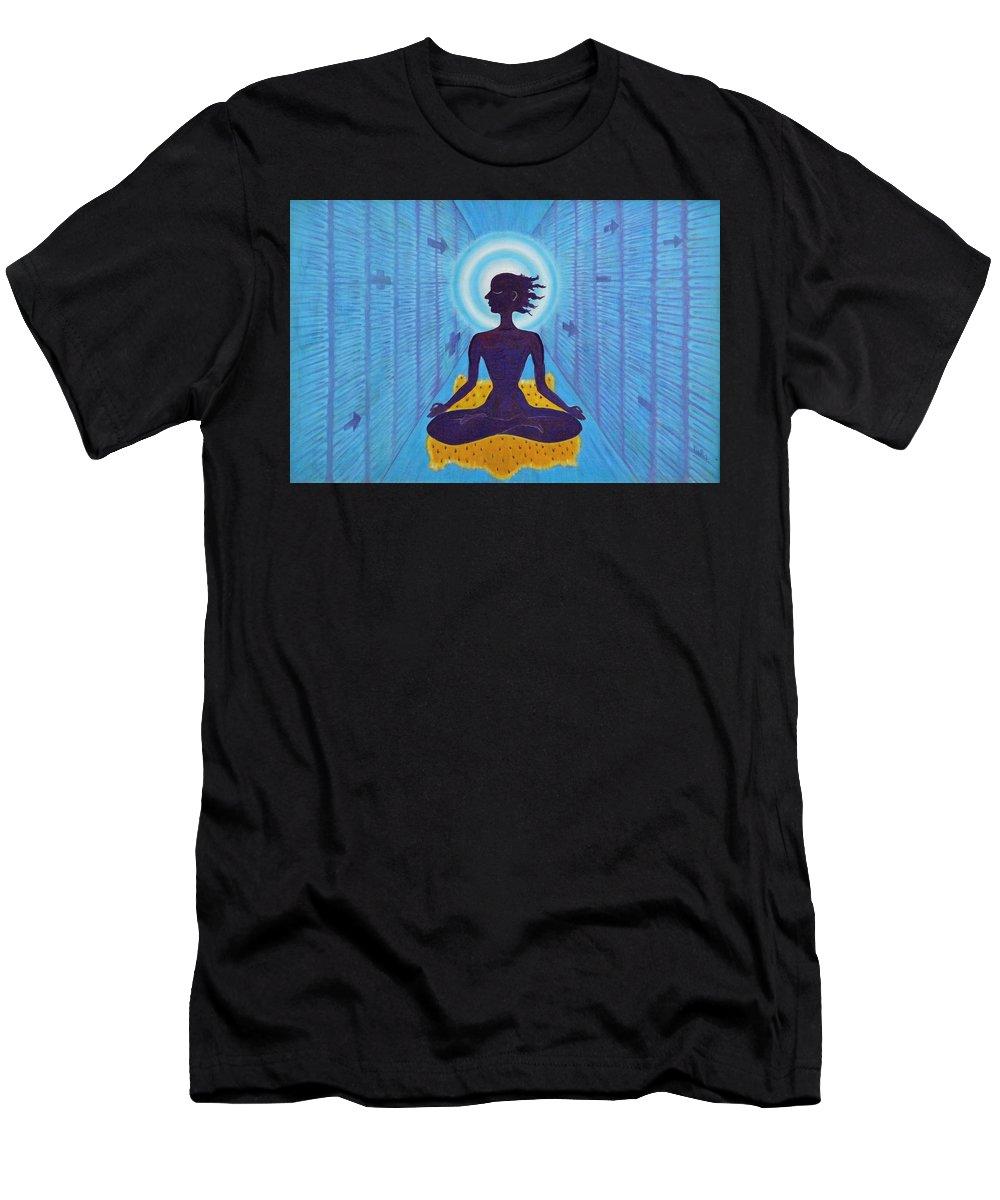 Transcendental Men's T-Shirt (Athletic Fit) featuring the painting Transcendental Meditation by Usha Shantharam