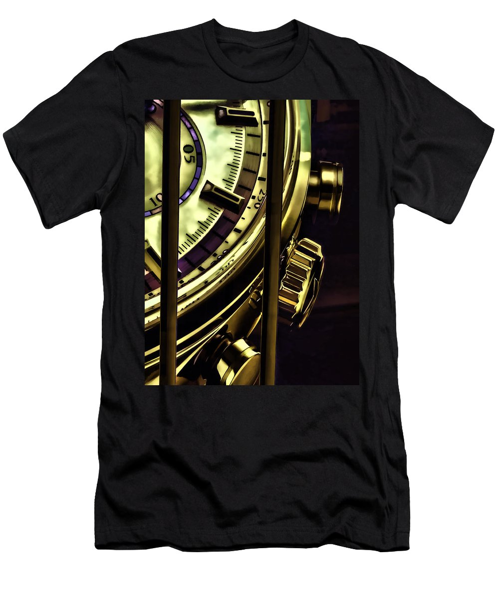 Trapped In Time Men's T-Shirt (Athletic Fit) featuring the painting Trapped In Time by Muhie Kanawati
