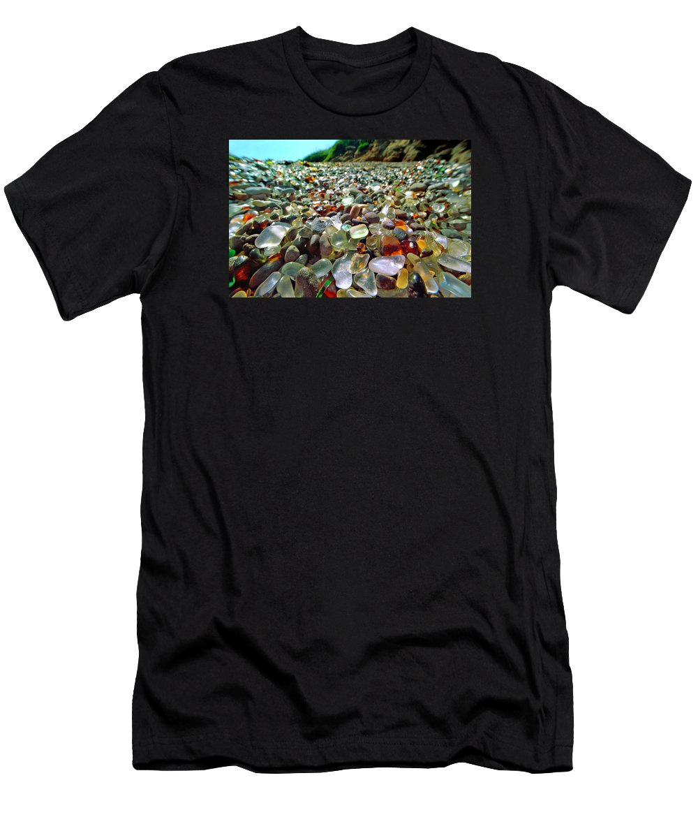 Film Men's T-Shirt (Athletic Fit) featuring the photograph Treasure Beach by Daniel Furon