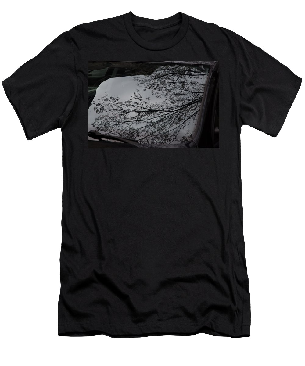Reflection Men's T-Shirt (Athletic Fit) featuring the photograph Tree Buds by Allan Morrison