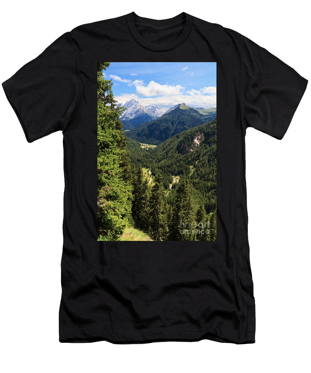 Alpine Men's T-Shirt (Athletic Fit) featuring the photograph Trentino - Val Duron by Antonio Scarpi