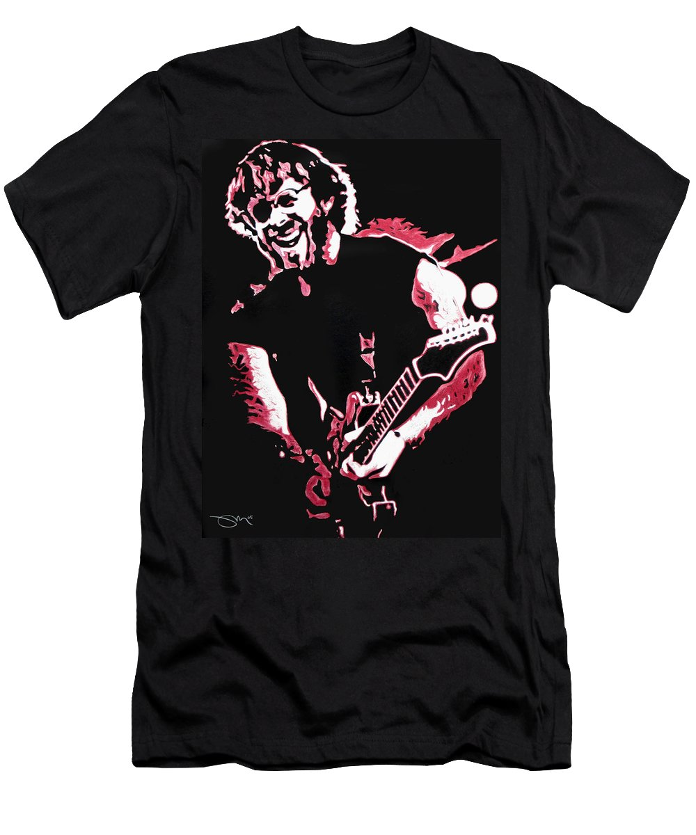Phish Men's T-Shirt (Athletic Fit) featuring the drawing Trey Anastasio In Pink by Joshua Morton