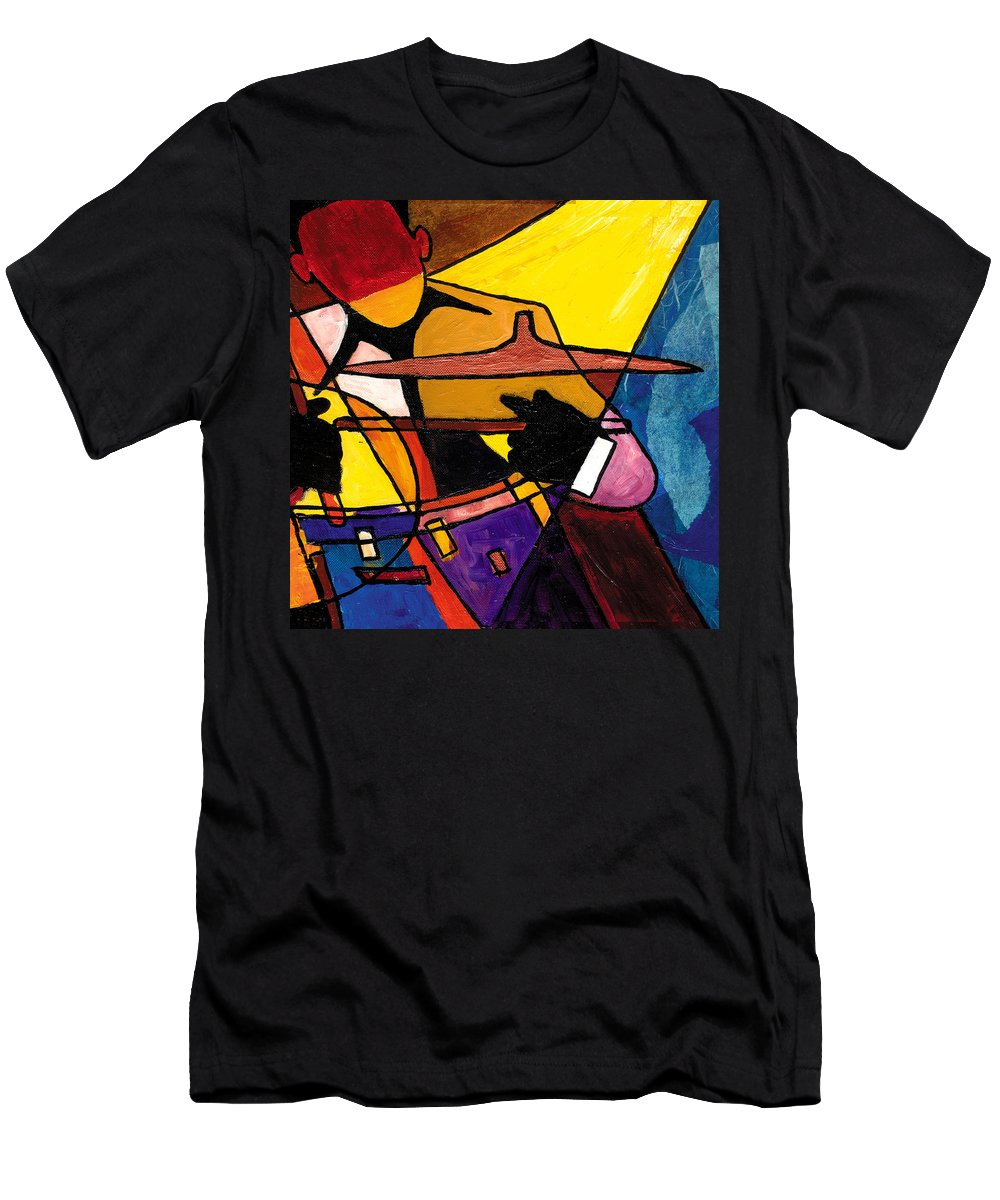 Everett Spruill T-Shirt featuring the painting Trip Trio 3 of 3 by Everett Spruill