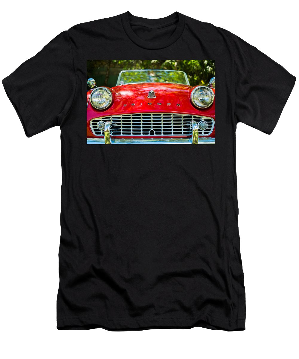 1960s Men's T-Shirt (Athletic Fit) featuring the photograph Triumph Tr3 by Raul Rodriguez
