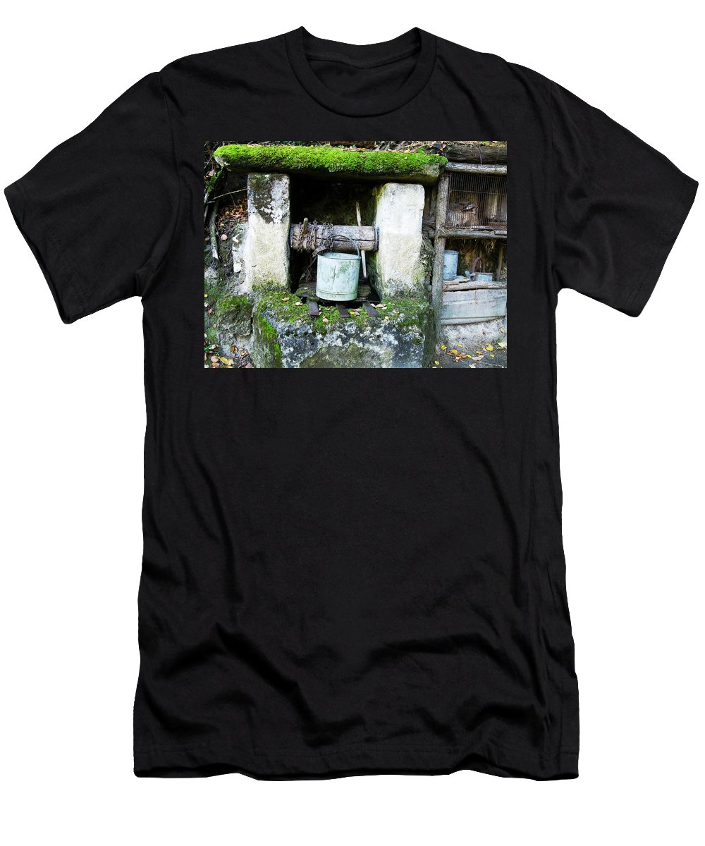 Well Men's T-Shirt (Athletic Fit) featuring the photograph Troglodyte Well by Randi Kuhne