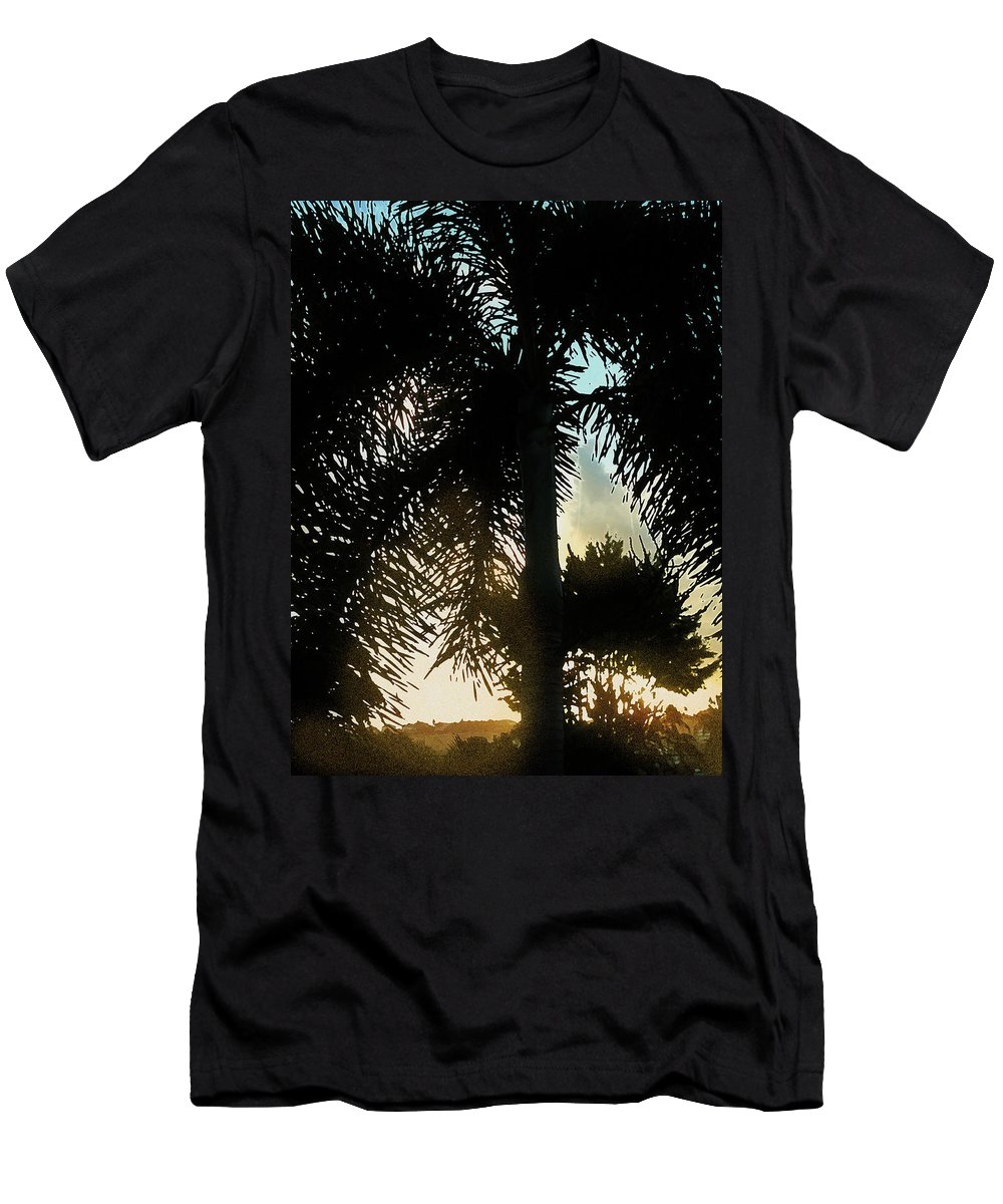 Palm Men's T-Shirt (Athletic Fit) featuring the photograph Tropical Silhouette by Ian MacDonald