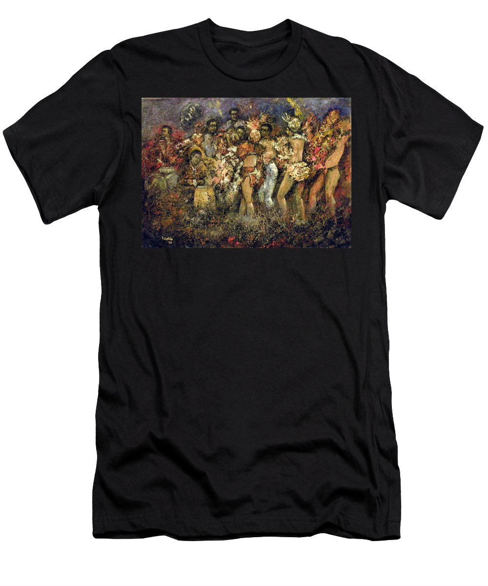Tropicana Men's T-Shirt (Athletic Fit) featuring the painting Tropicana Havana by Tomas Castano