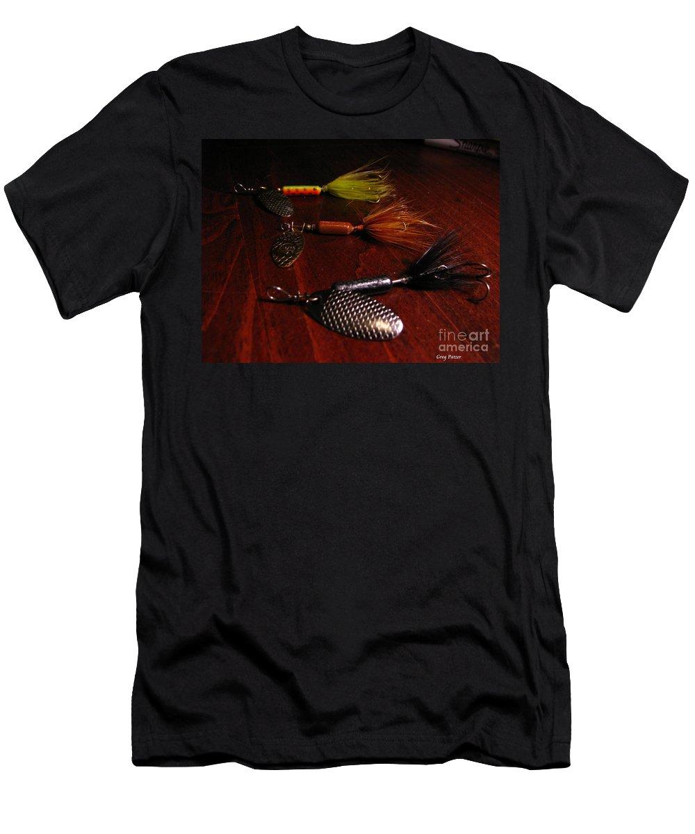 Patzer Men's T-Shirt (Athletic Fit) featuring the photograph Trout Temptation by Greg Patzer