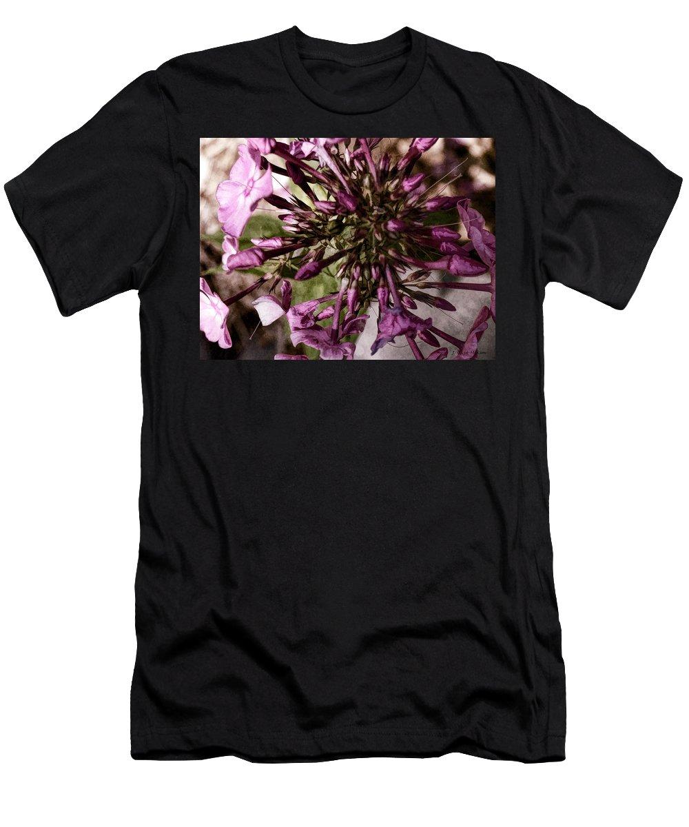 Phlox Men's T-Shirt (Athletic Fit) featuring the digital art Trumpets Of Phlox by Jo-Anne Gazo-McKim