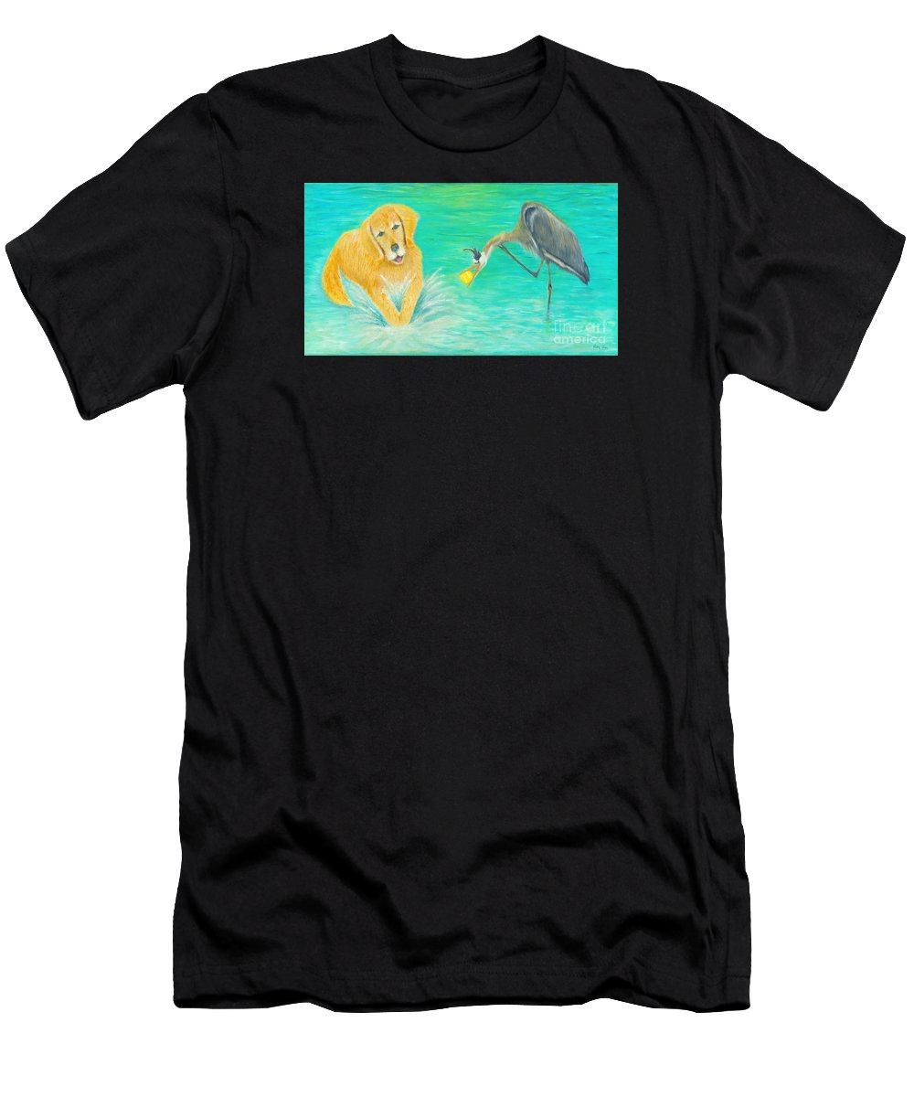 Dog Men's T-Shirt (Athletic Fit) featuring the painting Try Again by Robin Grace