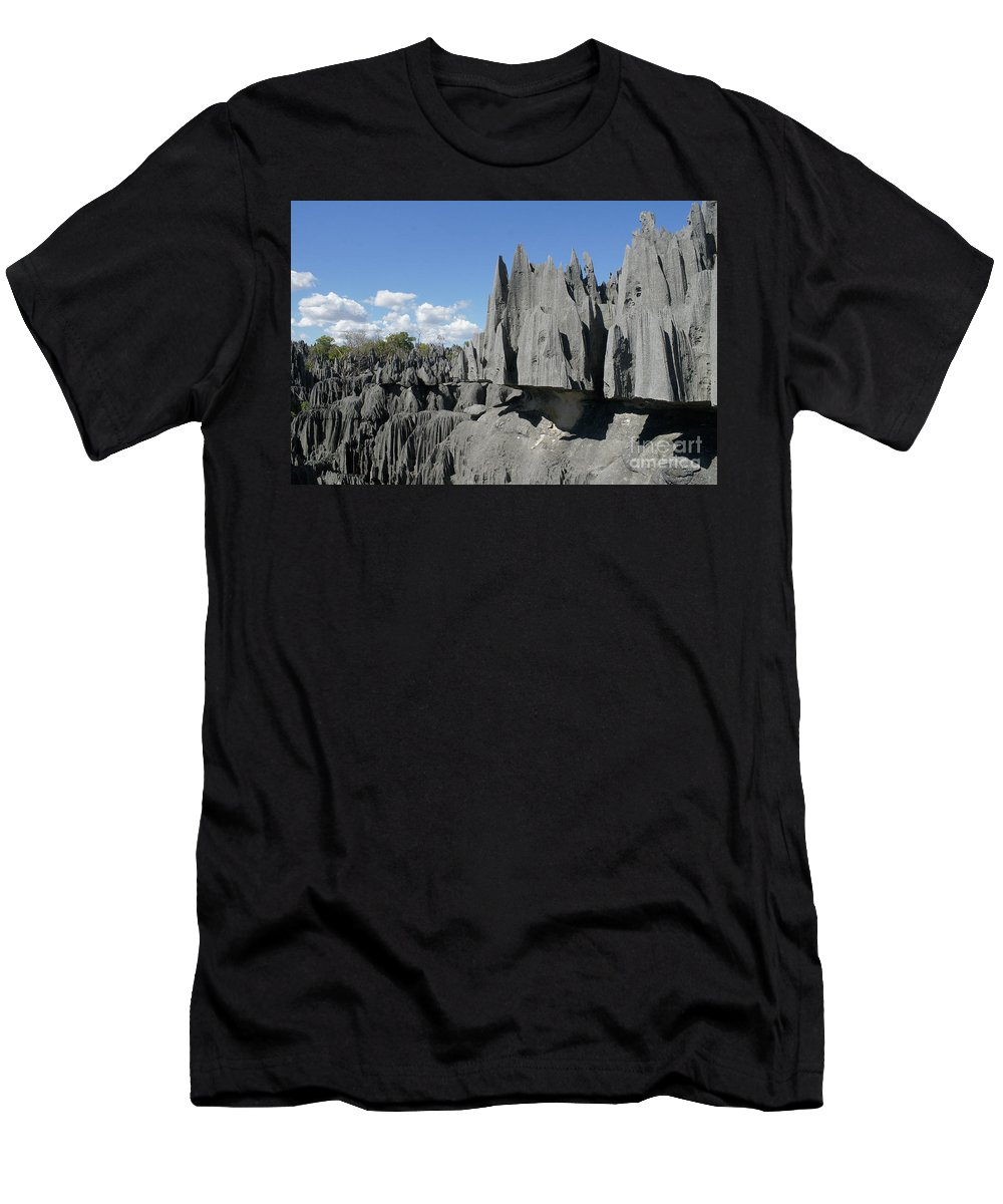 Prott Men's T-Shirt (Athletic Fit) featuring the photograph Tsingy De Bemaraha Madagascar 2 by Rudi Prott