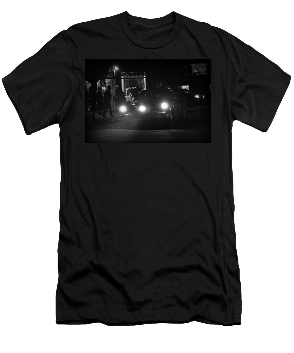 Tucker Men's T-Shirt (Athletic Fit) featuring the photograph Tucker Noir by Steve Natale