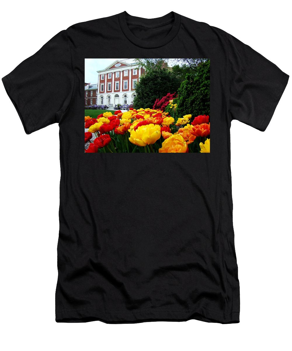 Philadelphia Men's T-Shirt (Athletic Fit) featuring the photograph Tulip Love by Alice Gipson