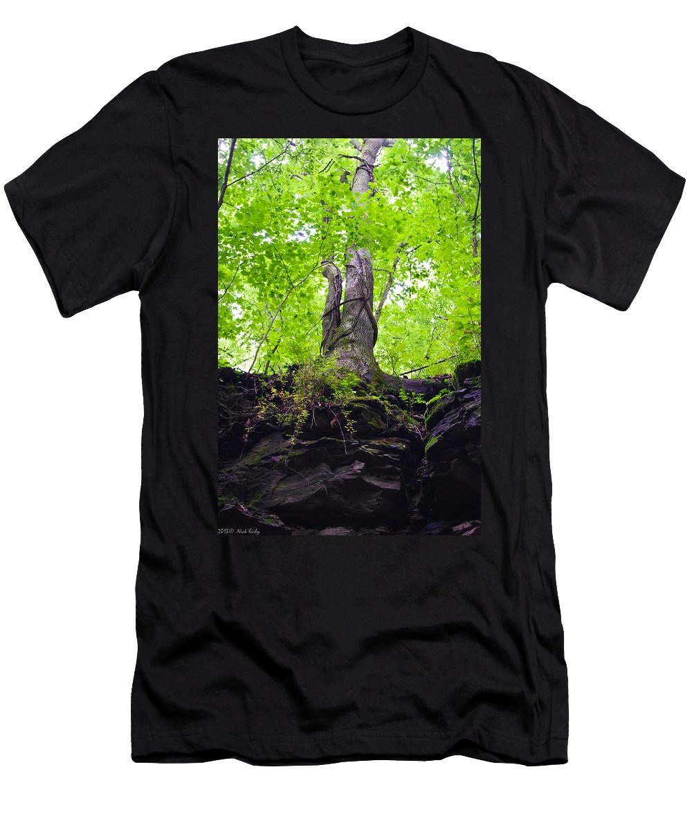 Tree Men's T-Shirt (Athletic Fit) featuring the photograph Tunnel Tree by Nick Kirby