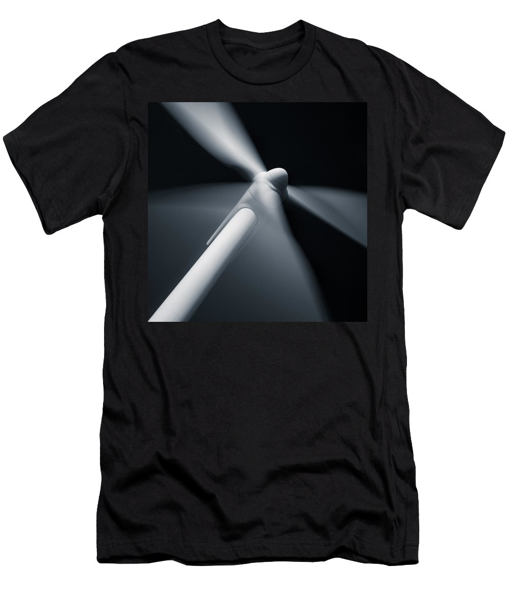 Wind Turbine Men's T-Shirt (Athletic Fit) featuring the photograph Wind Turbine by Dave Bowman