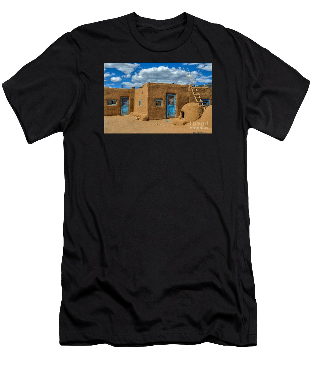 New Mexico Men's T-Shirt (Athletic Fit) featuring the photograph Turquoise Haven by K D Graves