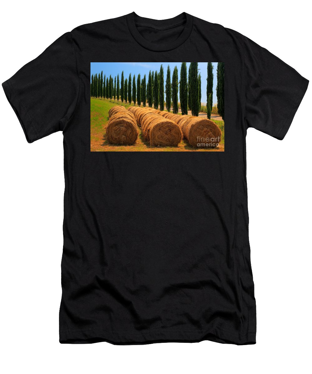 Europe Men's T-Shirt (Athletic Fit) featuring the photograph Tuscan Hay by Inge Johnsson