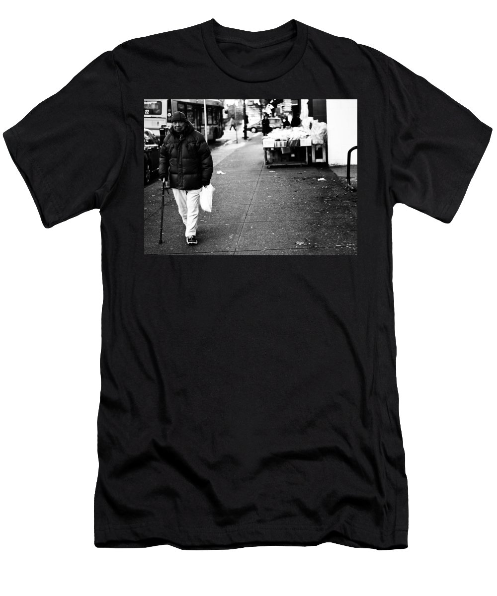 Street Photography Men's T-Shirt (Athletic Fit) featuring the photograph Twenty Two Bottles by The Artist Project