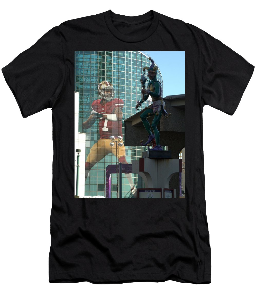 Color Image Men's T-Shirt (Athletic Fit) featuring the photograph Twice The Fun by Anthony Walker Sr