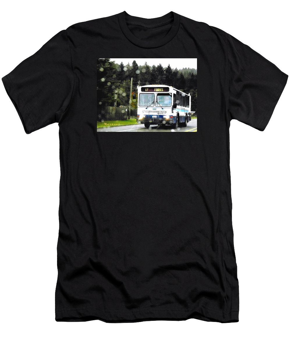 Coast Men's T-Shirt (Athletic Fit) featuring the photograph Twilight In Forks Wa 1 by Sadie Reneau