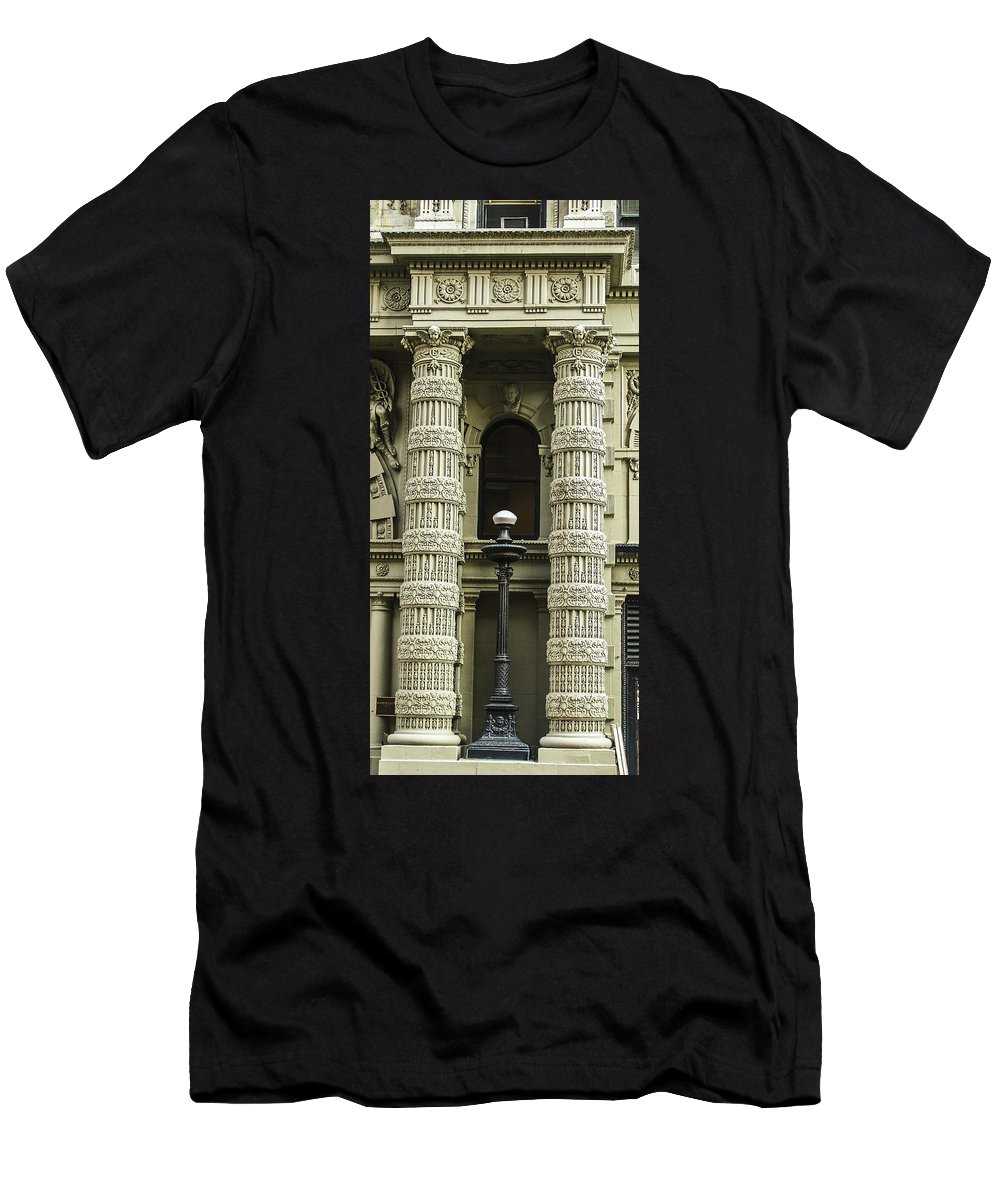 Embellishment Men's T-Shirt (Athletic Fit) featuring the photograph Twin Columns by Eric Swan