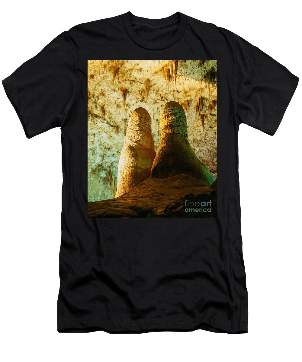 Carlsbad Caverns Men's T-Shirt (Athletic Fit) featuring the photograph Twin Domes by Tracy Knauer