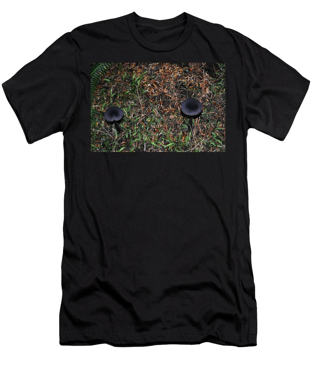 Season Men's T-Shirt (Athletic Fit) featuring the photograph Two Black Stools by Tikvah's Hope