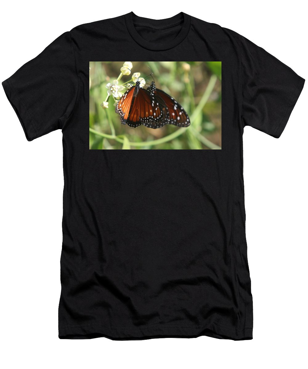 Butterfly Men's T-Shirt (Athletic Fit) featuring the photograph Two Butterflies by Christiane Schulze Art And Photography