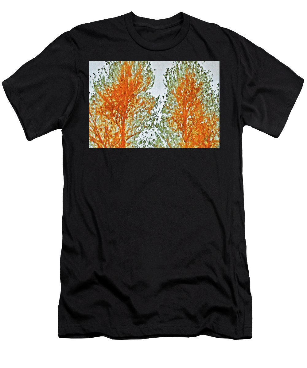 Tree Top Men's T-Shirt (Athletic Fit) featuring the photograph Two Trees by Ben and Raisa Gertsberg