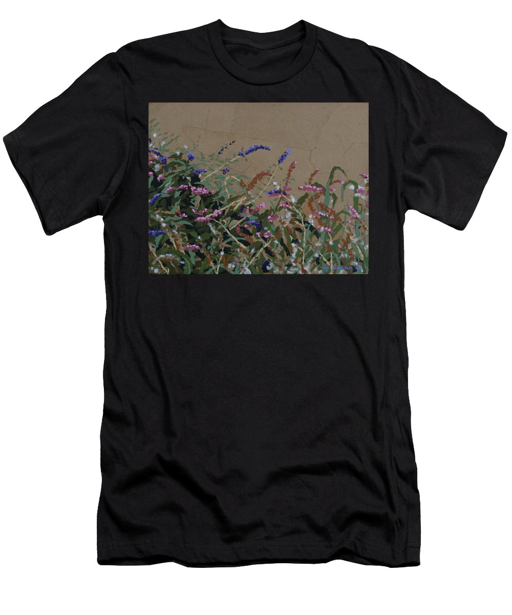 Flowering Butterfly Bush Men's T-Shirt (Athletic Fit) featuring the painting Tyler by Leah Tomaino