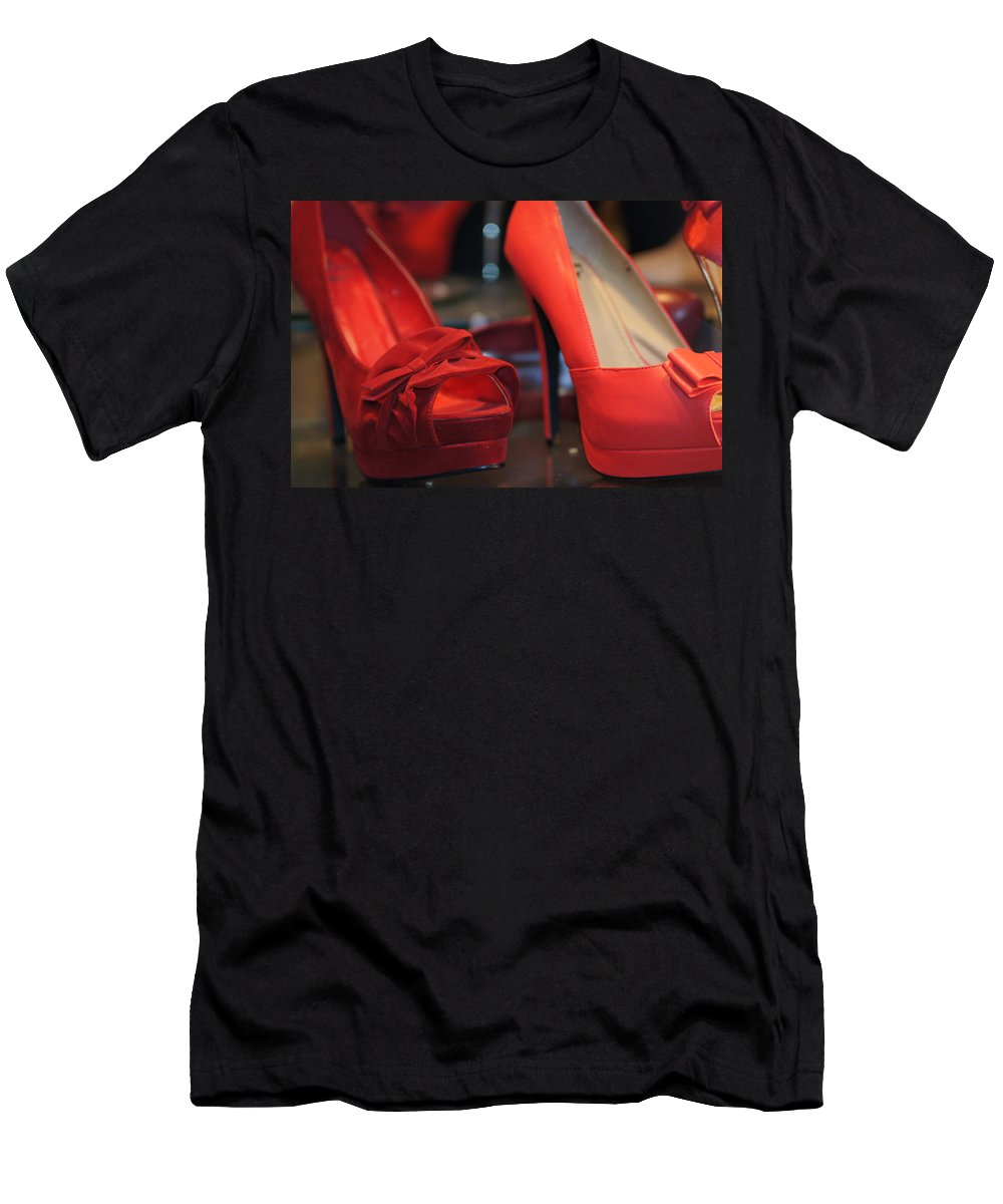Red Shoes Men's T-Shirt (Athletic Fit) featuring the photograph Ugh Oh by Ira Shander