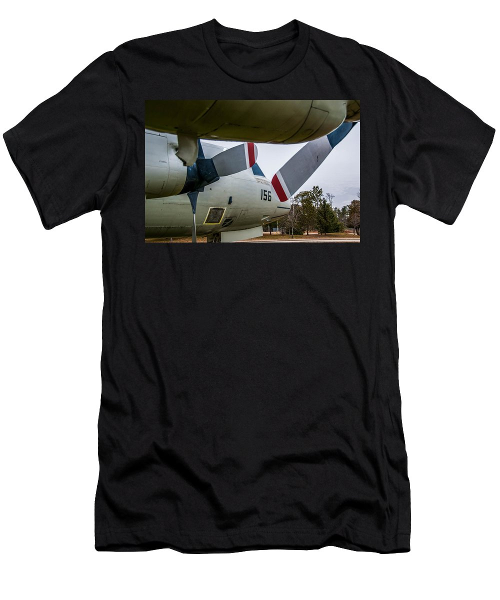 Asw Aircraft Men's T-Shirt (Athletic Fit) featuring the photograph Under My Wing by Guy Whiteley