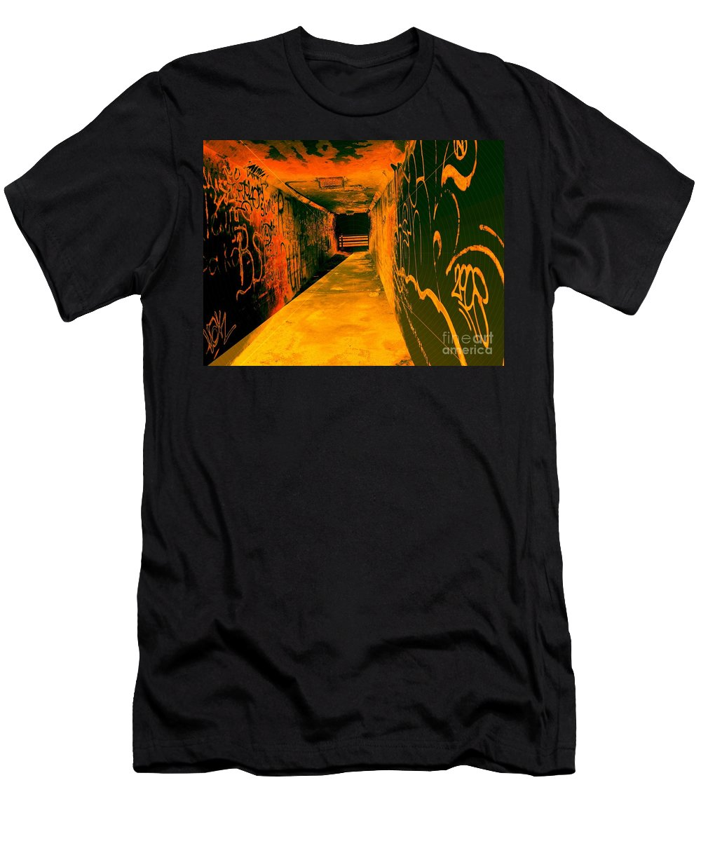 Tunnel Men's T-Shirt (Athletic Fit) featuring the photograph Under The Bridge by Ze DaLuz