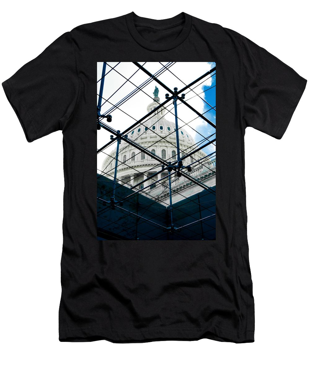 Arlington Cemetery Men's T-Shirt (Athletic Fit) featuring the photograph Under The Dome by Greg Fortier