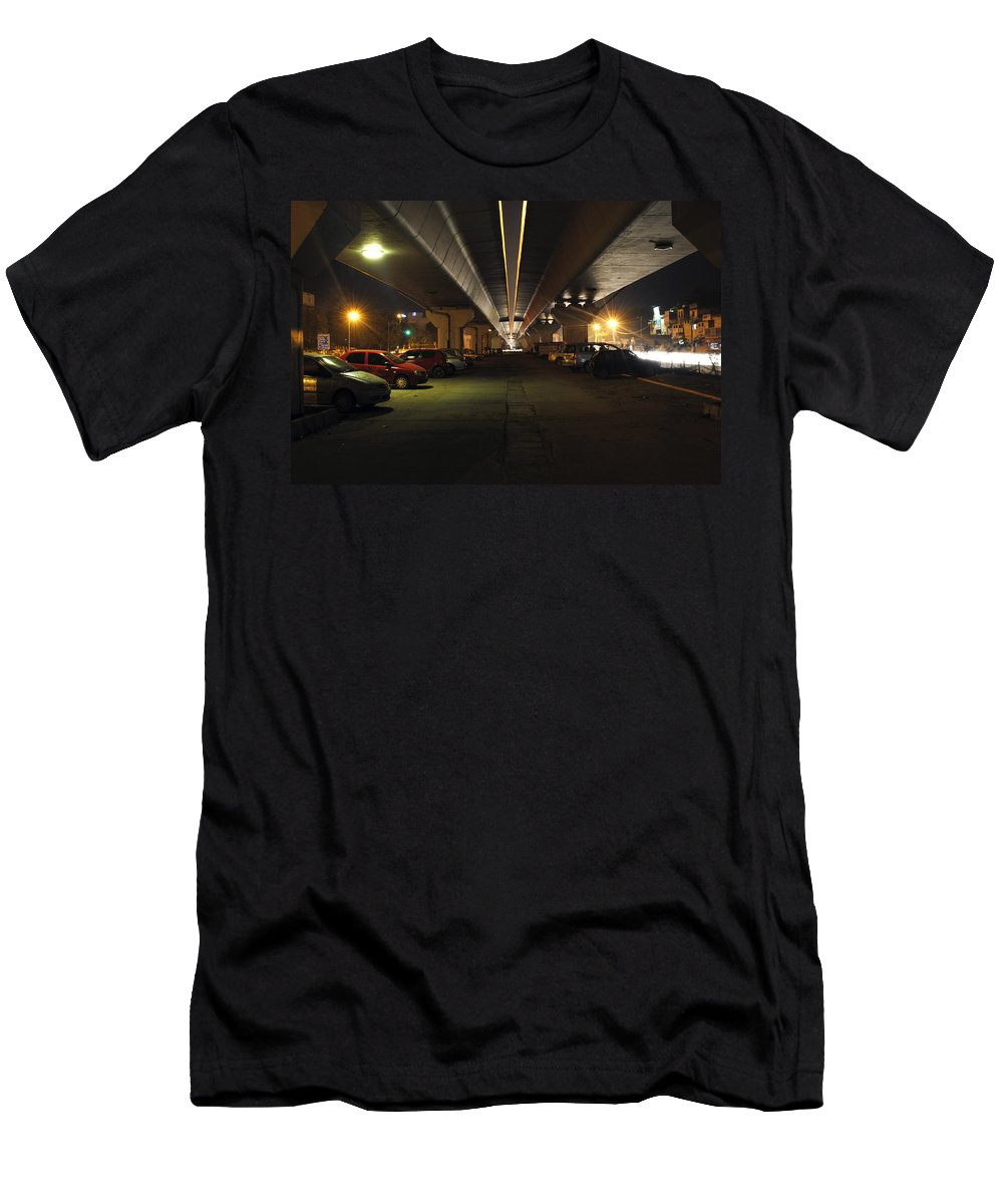 Cars Men's T-Shirt (Athletic Fit) featuring the photograph Under The Flyover by Sumit Mehndiratta