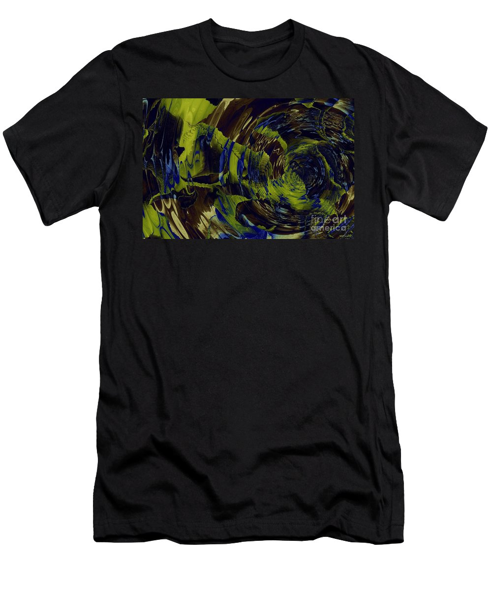 Under The Ripples Men's T-Shirt (Athletic Fit) featuring the digital art Under The Ripples by Elizabeth McTaggart