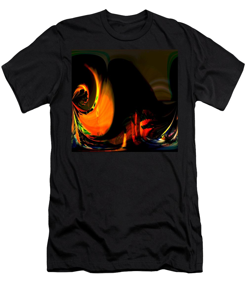 Abstract Men's T-Shirt (Athletic Fit) featuring the photograph Under The Volcano by Richard Thomas