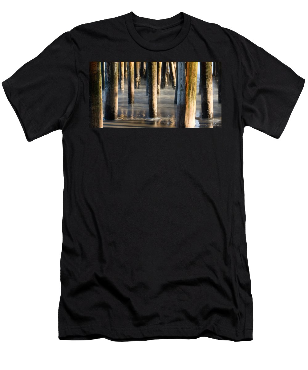 Santa Cruz Men's T-Shirt (Athletic Fit) featuring the photograph Under The Wharf by Dayne Reast
