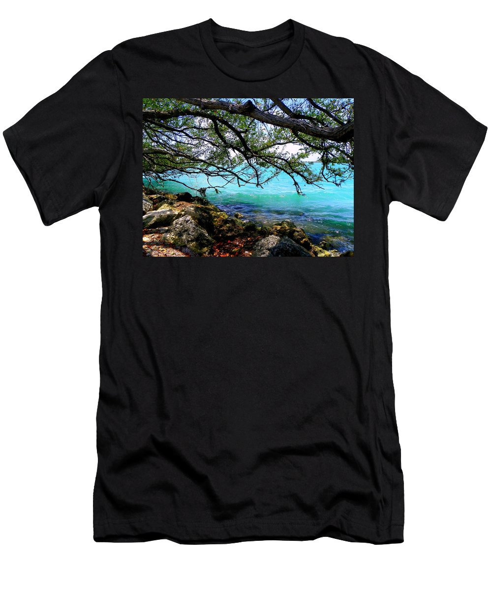 Florida Keys Men's T-Shirt (Athletic Fit) featuring the photograph Underneath by Karen Wiles