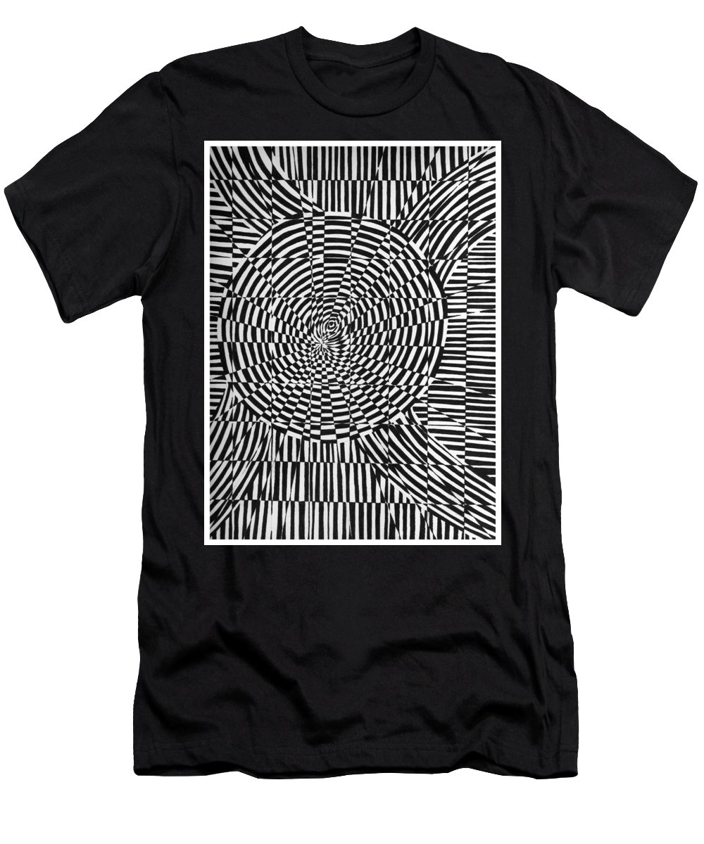 Abstract Men's T-Shirt (Athletic Fit) featuring the drawing Unraveled by Crystal Hubbard