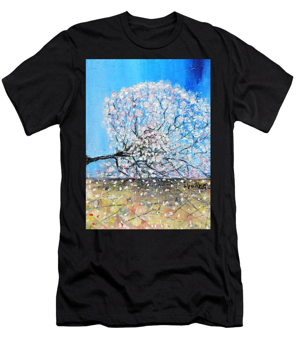 Landscape Men's T-Shirt (Athletic Fit) featuring the painting Unstable Position by Evelina Popilian