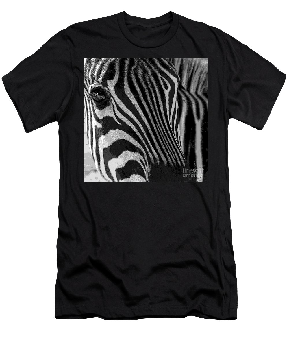 Zebra Men's T-Shirt (Athletic Fit) featuring the photograph Untilted by Robert Meanor