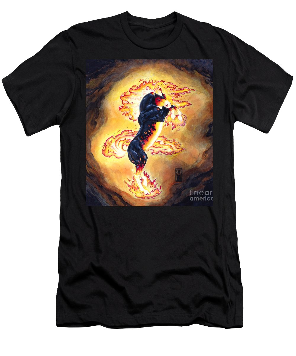 Melissa Benson T-Shirt featuring the painting Upright Nightmare by Melissa A Benson