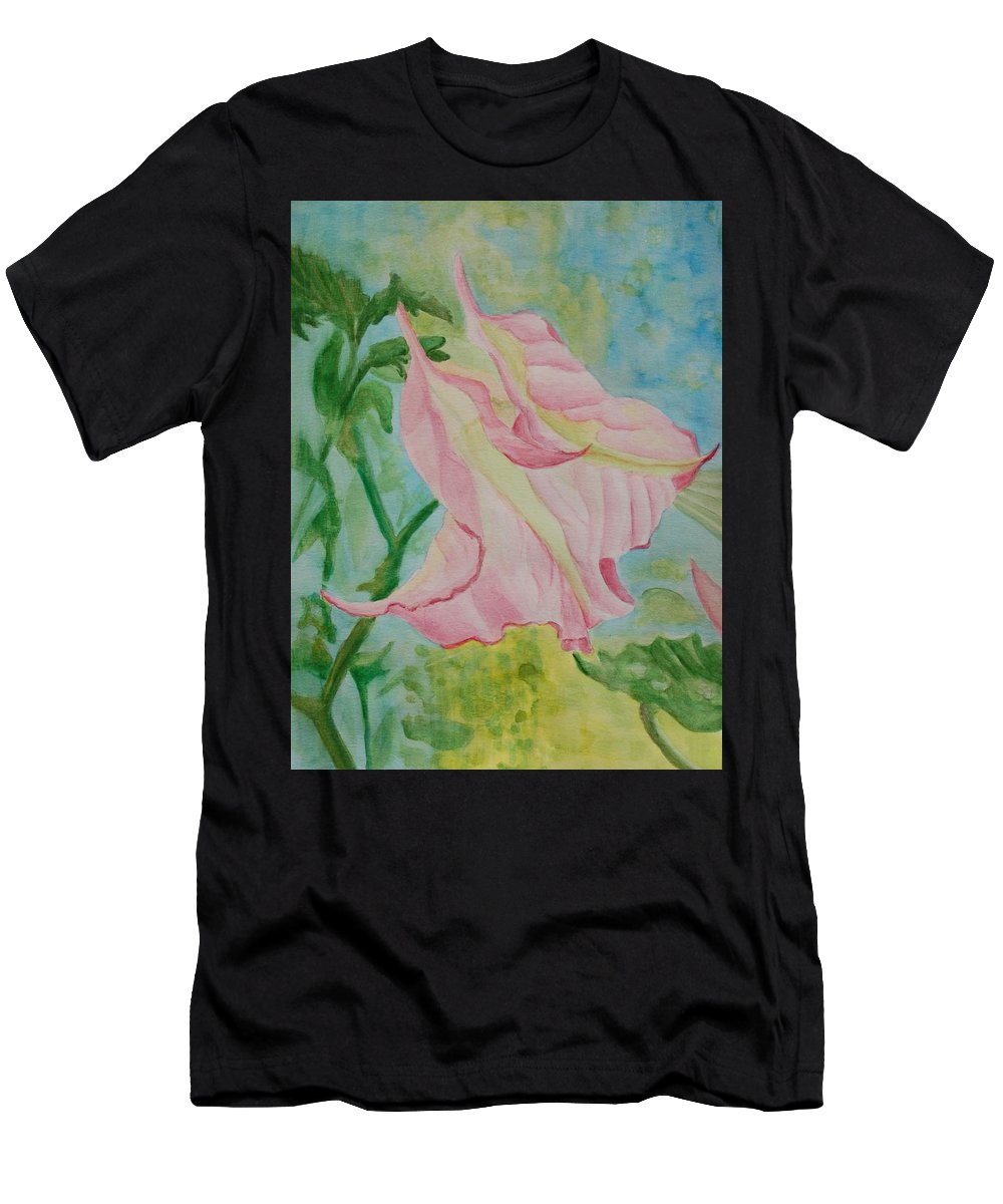 Linda Brody Men's T-Shirt (Athletic Fit) featuring the painting Upside Down Watercolor by Linda Brody