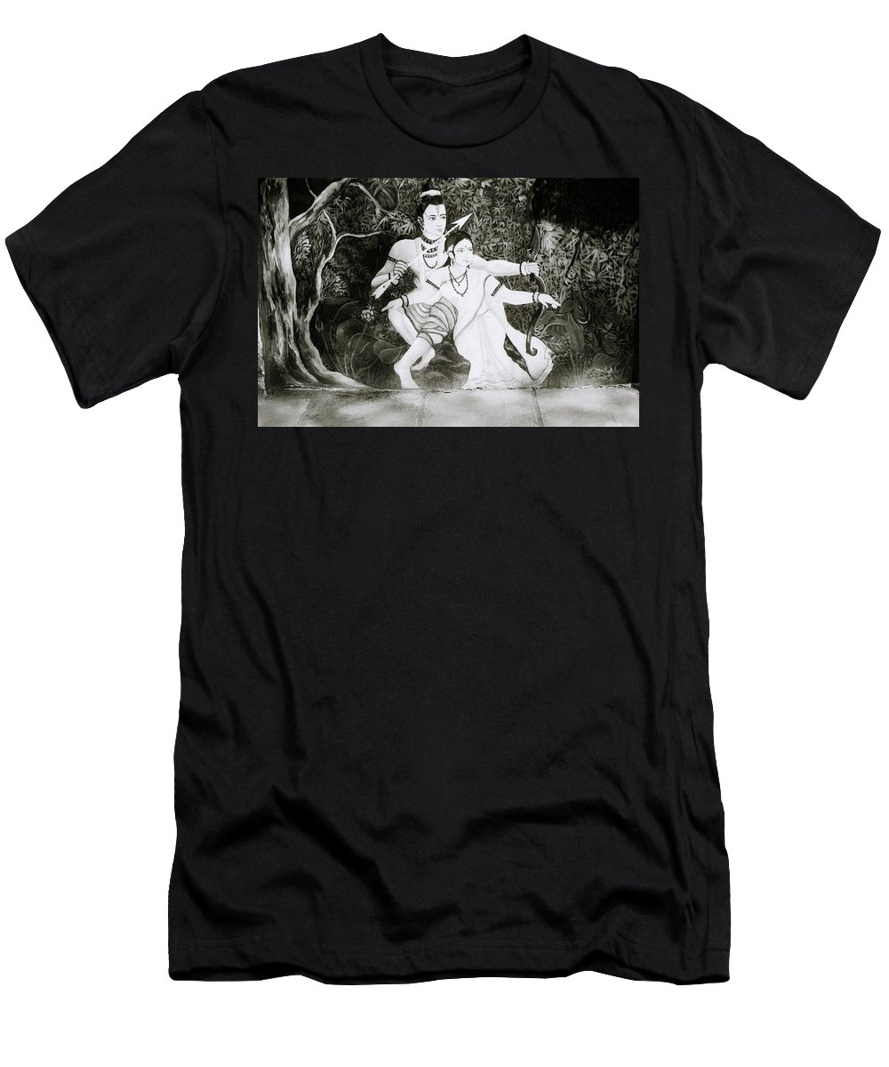 Spirituality Men's T-Shirt (Athletic Fit) featuring the photograph Urban Epic by Shaun Higson