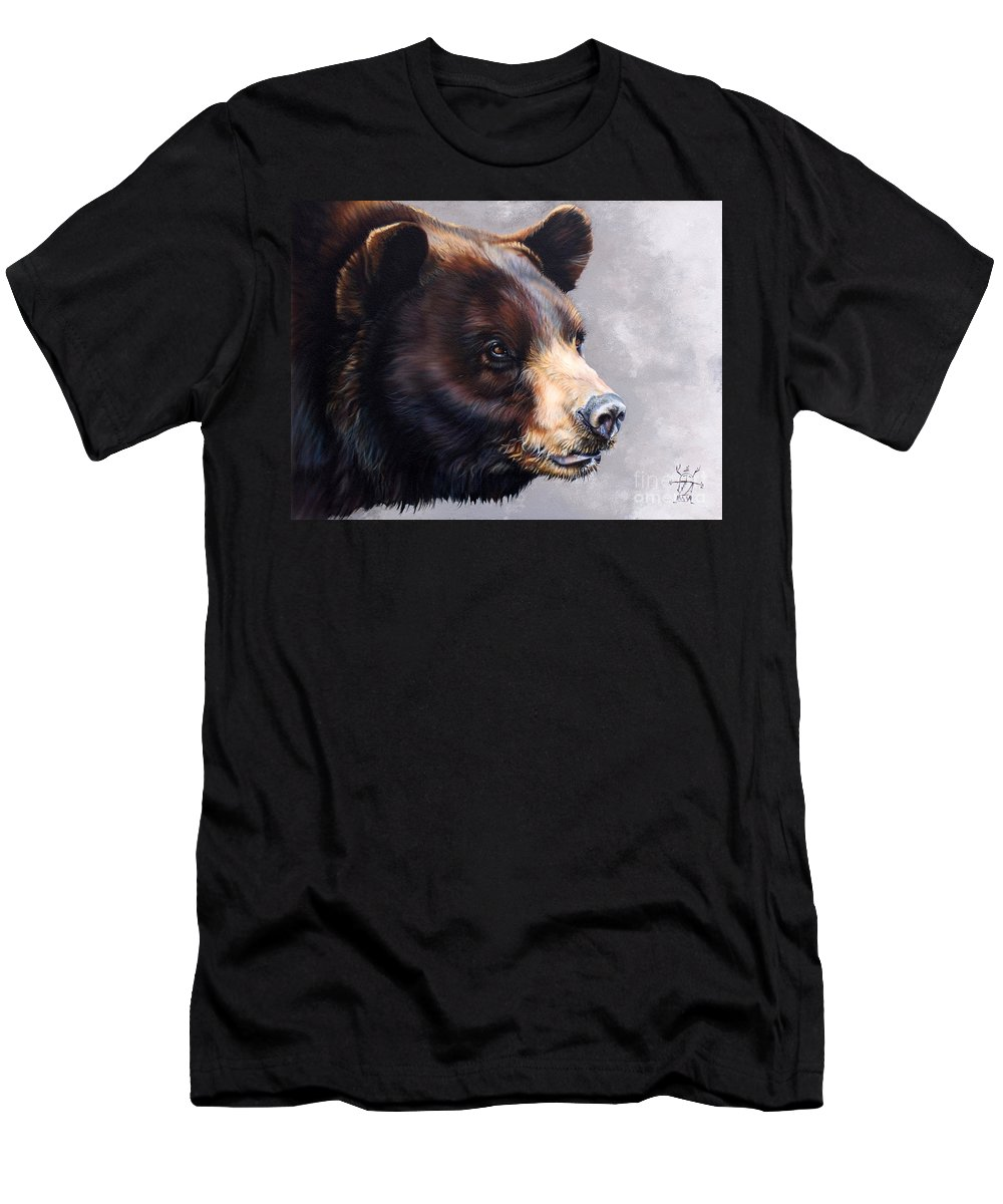 Bear Men's T-Shirt (Athletic Fit) featuring the painting Ursa Major by J W Baker