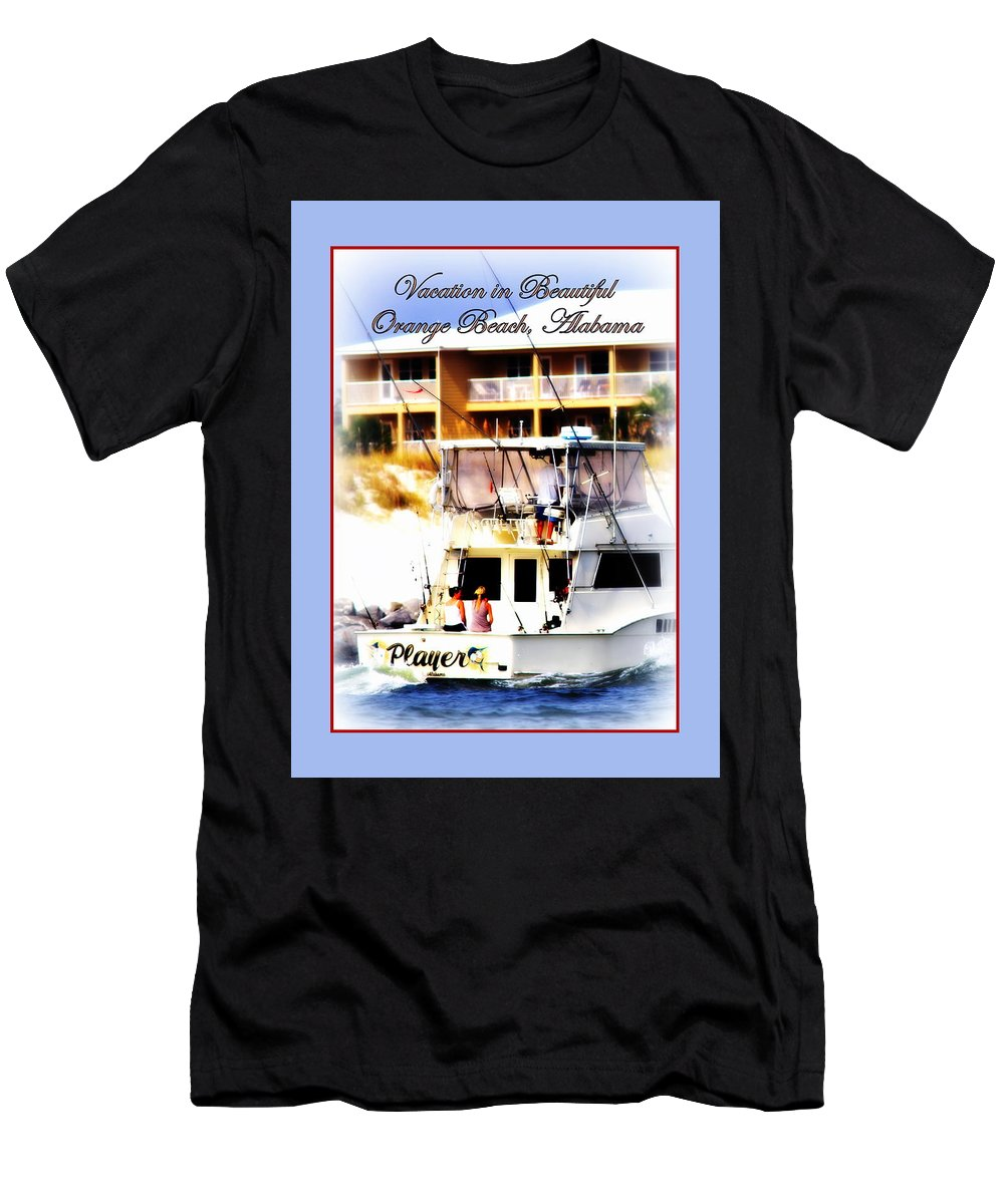 Vacation Men's T-Shirt (Athletic Fit) featuring the photograph Vacation In Beautiful Orange Beach Alabama by Travis Truelove